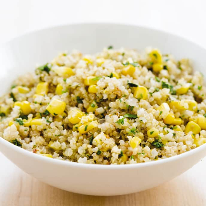 Slow-Cooker No-Fuss Quinoa with Corn and Jalapeño