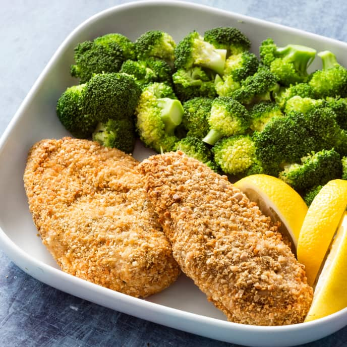 Air-Fryer Nut-Crusted Chicken Breasts