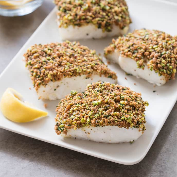 Nut-Crusted Cod Fillets