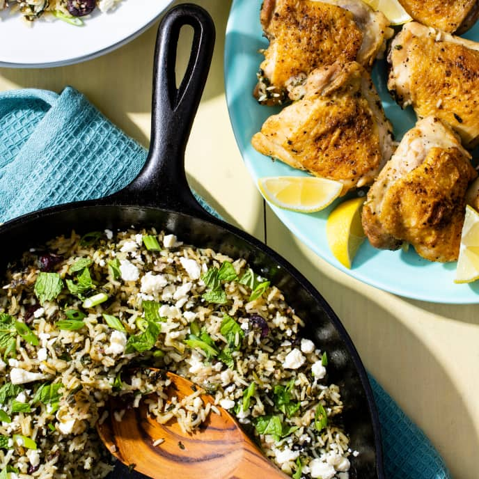 One-Pan Chicken and Spinach Rice