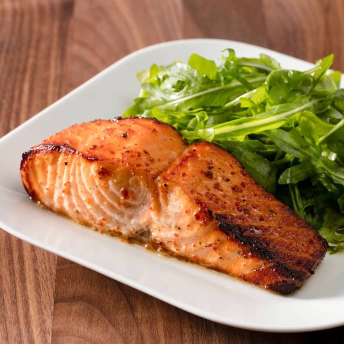 Air-Fryer Orange-Mustard Glazed Salmon