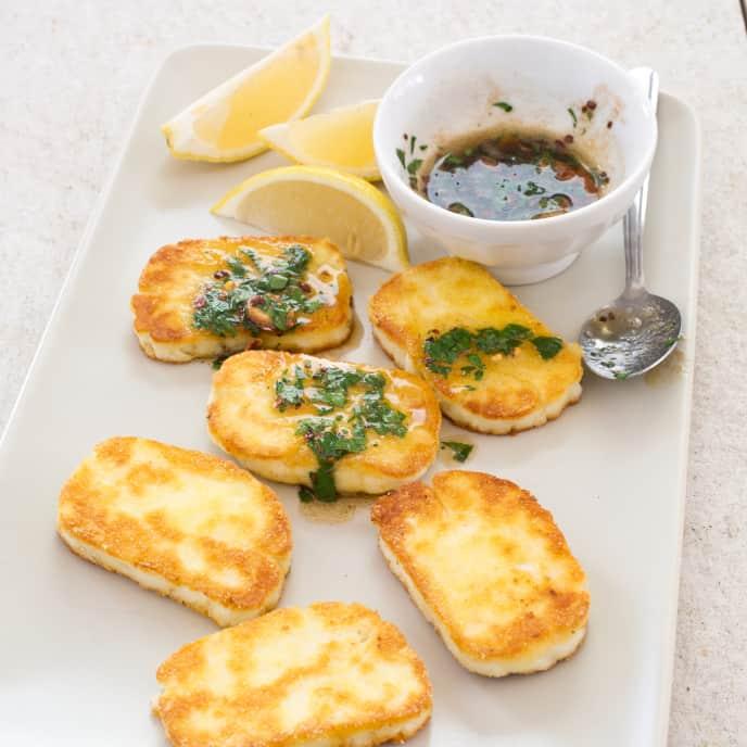 Pan-Fried Halloumi