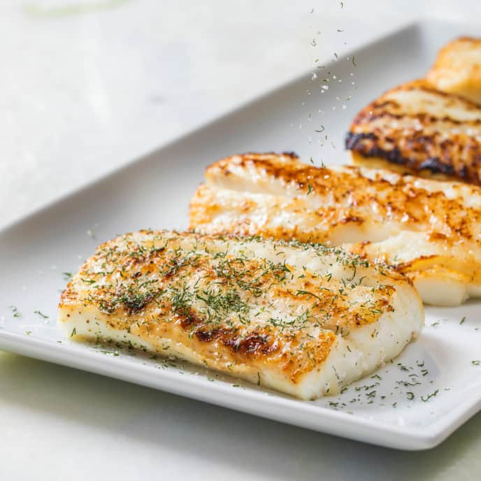 Pan-Roasted Fish Fillets with Herb Salt