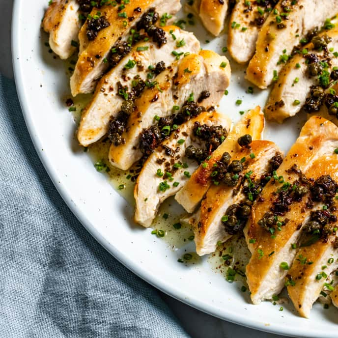 Pan-Seared Chicken Breasts with Browned Butter Sauce