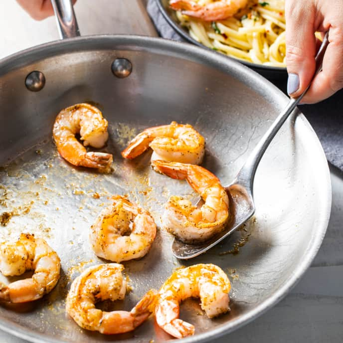Pan-Seared Shrimp for One