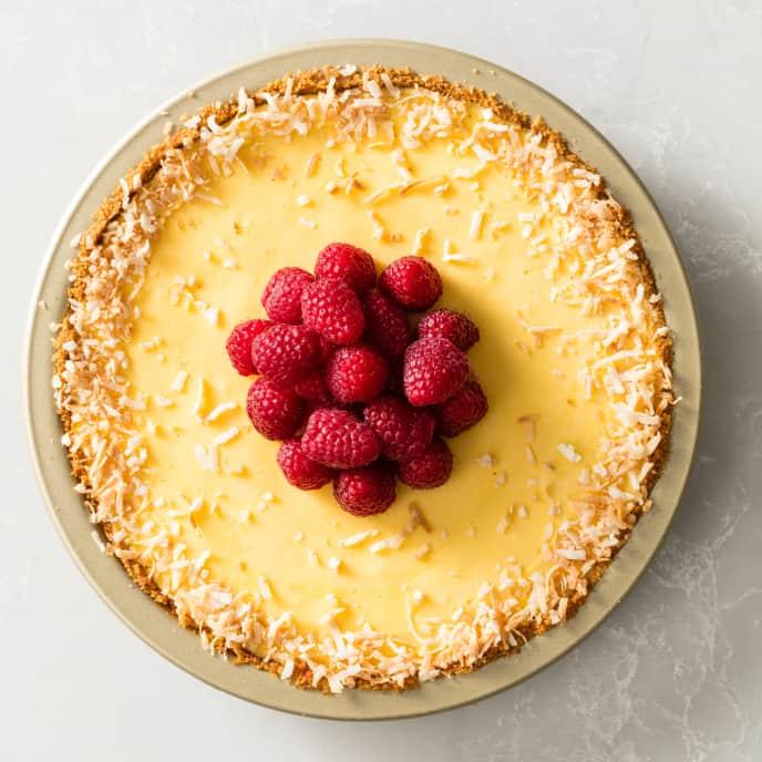 Passion Fruit Curd Pie