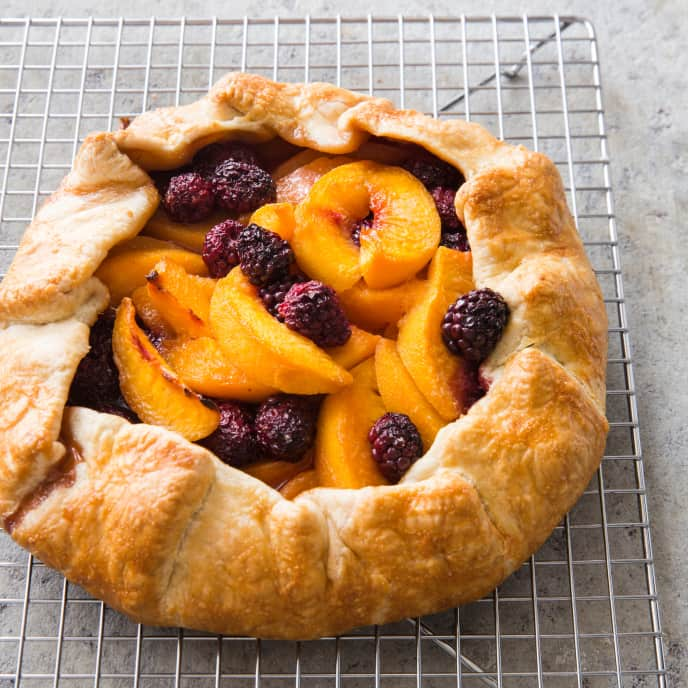 Peach–Blackberry Free-Form Tart (Reduced Sugar)