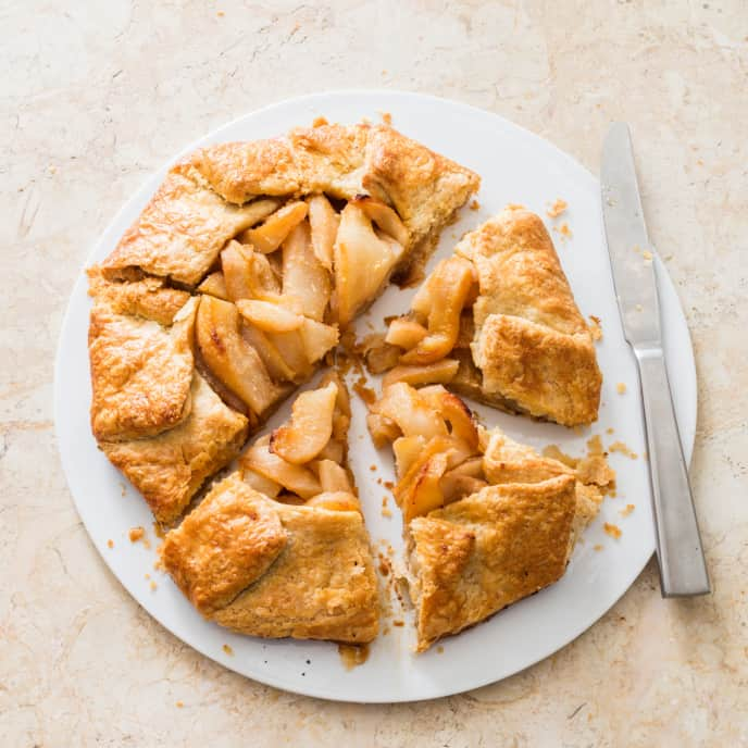 Pear–Ginger Free-Form Tart (Reduced Sugar)