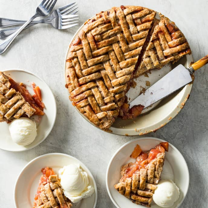 Plum-Ginger Pie with Whole-Wheat Crust