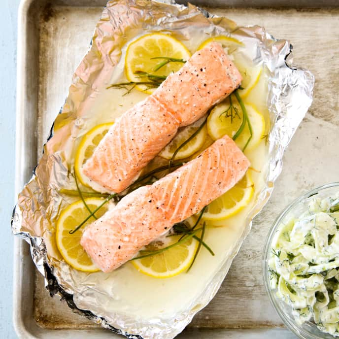Slow-Cooker Poached Salmon