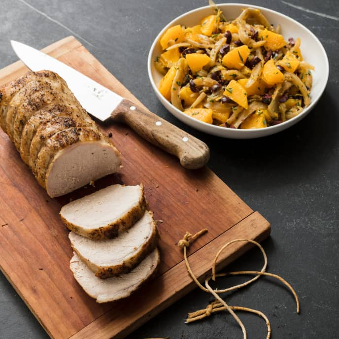 Slow-Cooker Pork Loin With Fennel, Oranges, and Olives