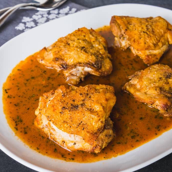 Poulet au Vinaigre (Chicken with Vinegar)