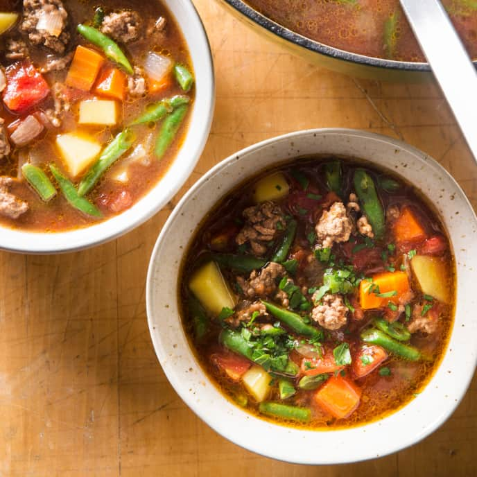 Quick Beef and Barley Soup