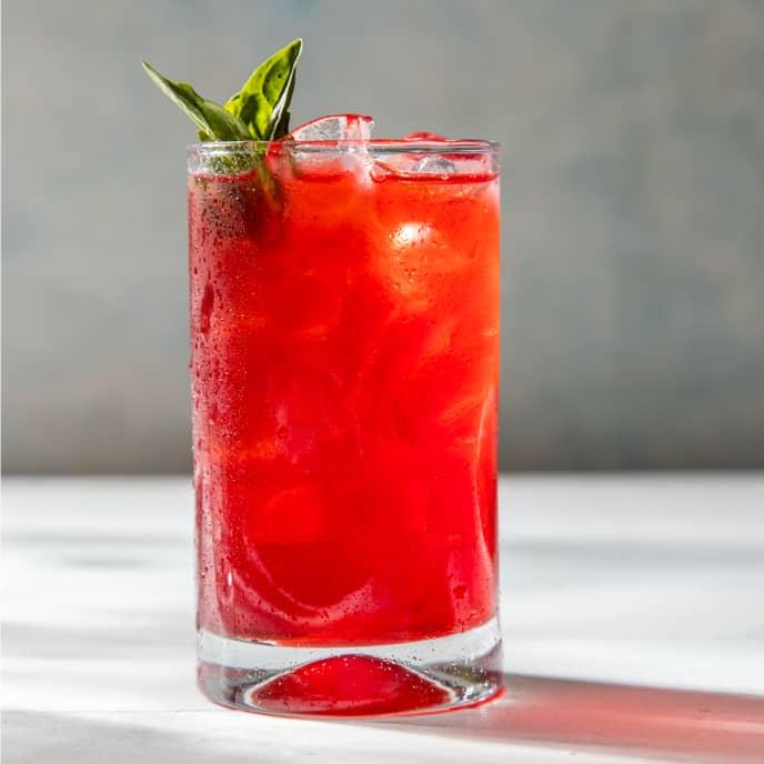 Raspberry-Basil Iced Black Tea