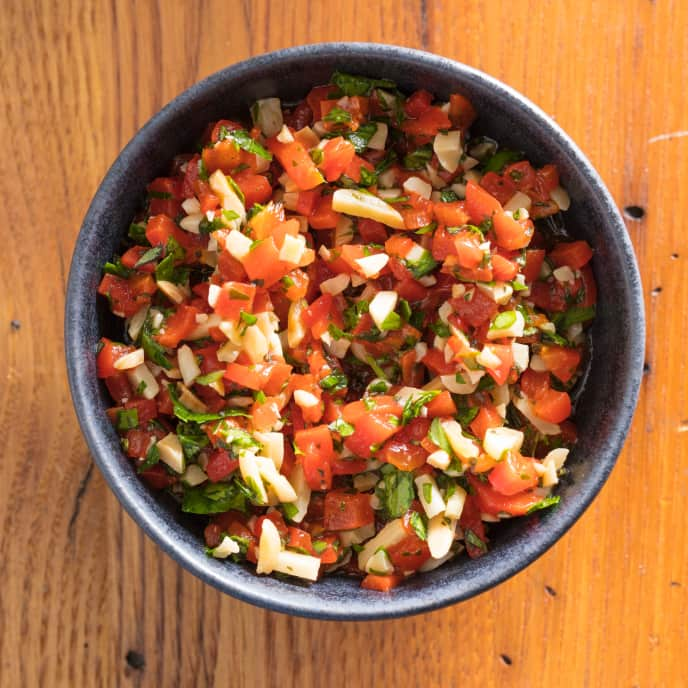 Red Pepper and Almond Relish for Two