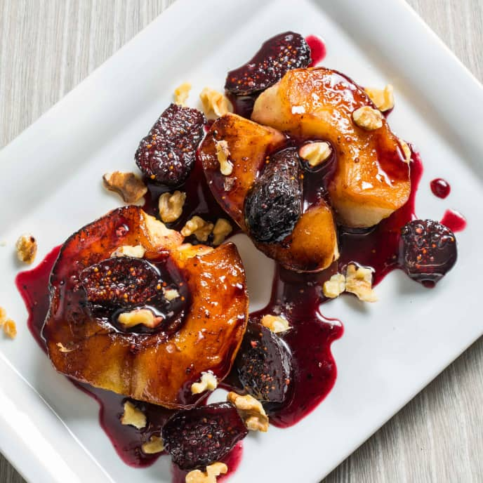 Roasted Apples with Dried Figs and Walnuts
