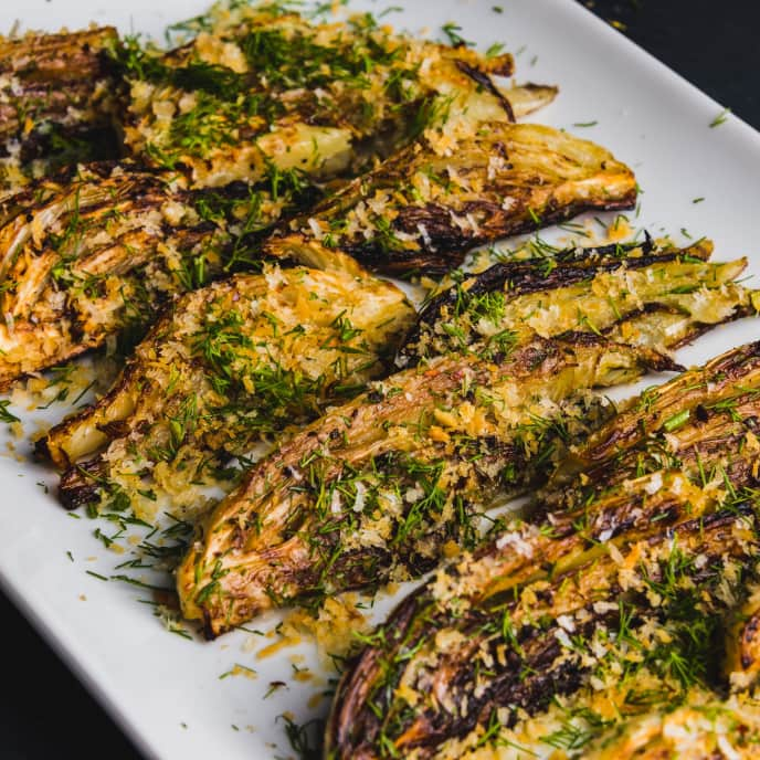 Roasted Fennel with Parmesan Bread Crumbs