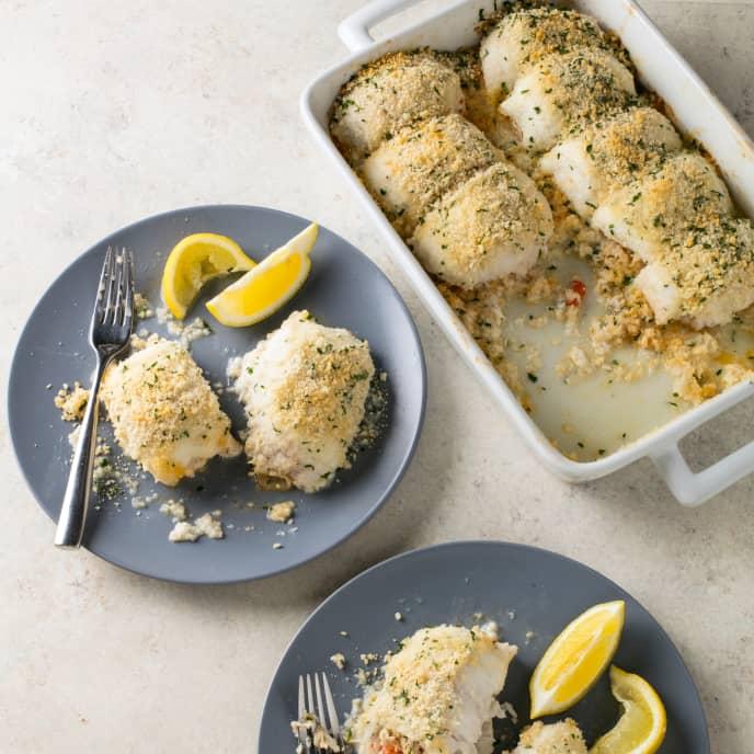Roasted Crab-Stuffed Flounder