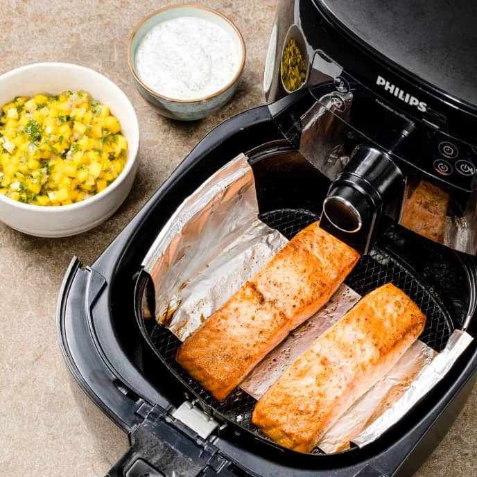 Air-Fryer Roasted Salmon Fillets