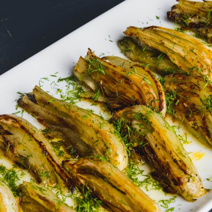 Roasted Fennel with Orange-Honey Dressing