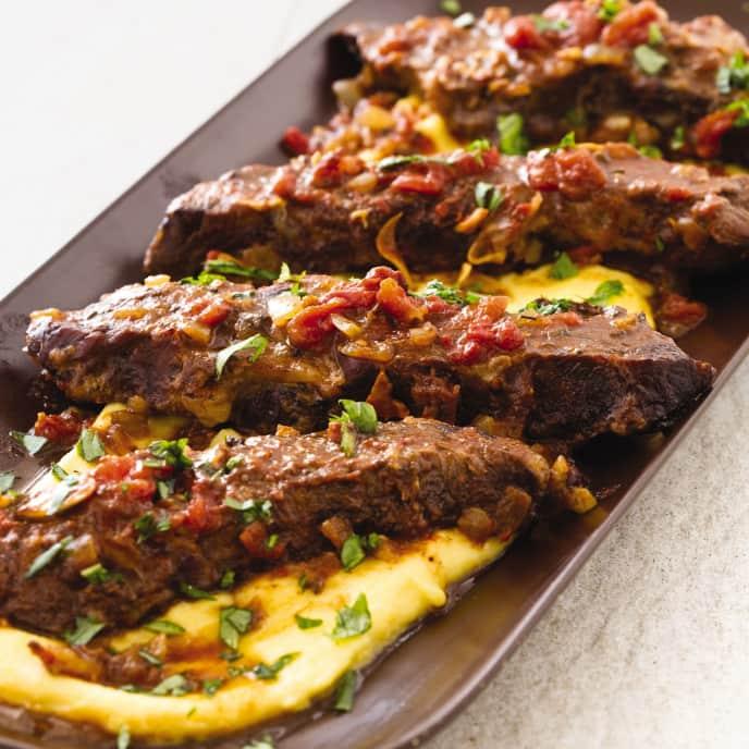 Slow-Cooker Rustic Italian Braised Beef Short Ribs