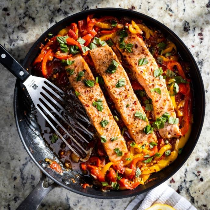 Salmon Peperonata