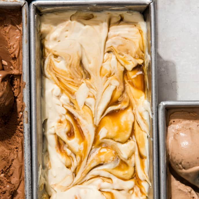 Salted Caramel-Coconut No-Churn Ice Cream