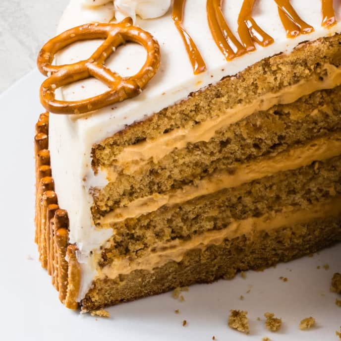 Pretzel Cake Layers