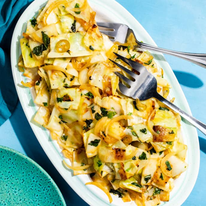 Sautéed Cabbage with Ginger and Herbs