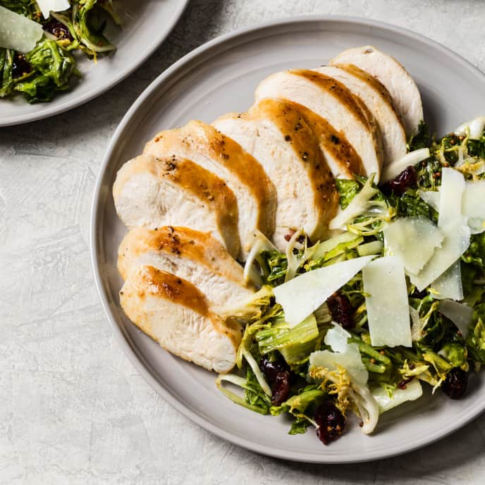 Sautéed Chicken Breasts with Wilted Salad