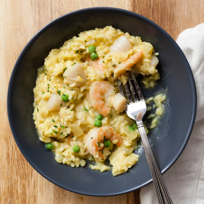 Slow-Cooker Seafood Risotto