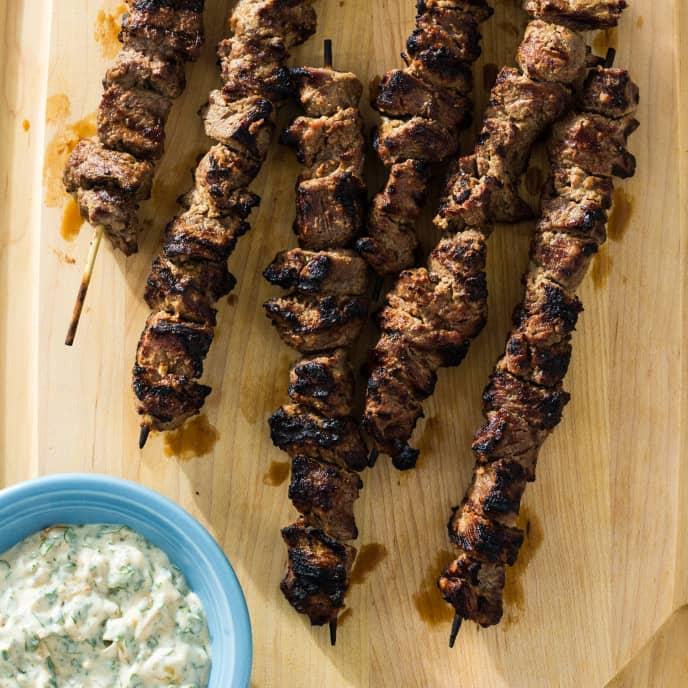 Shashlik-Style Beef Kebabs