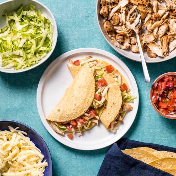 Air-Fryer Shredded Chicken Tacos
