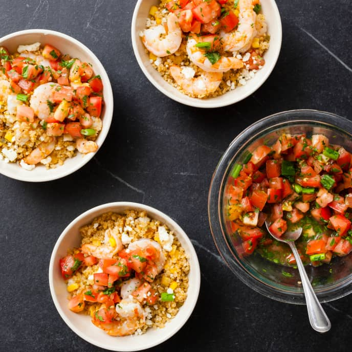 Slow-Cooker Shrimp With Spiced Quinoa and Corn Salad