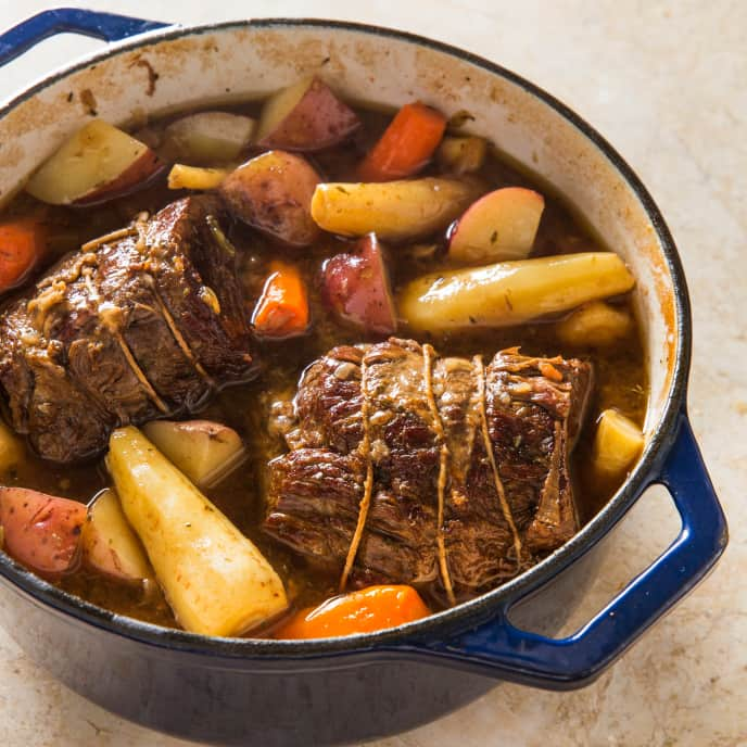 One-Pot Simple Pot Roast with Root Vegetables
