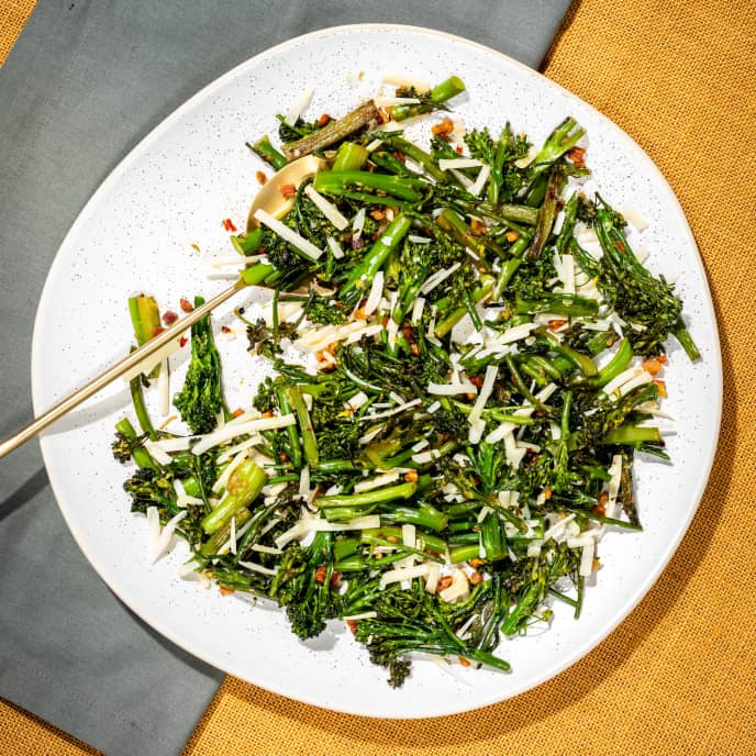Sautéed Broccolini with Pancetta and Gruyère