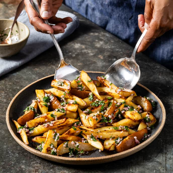 Skillet-Roasted Parsnips and Pears