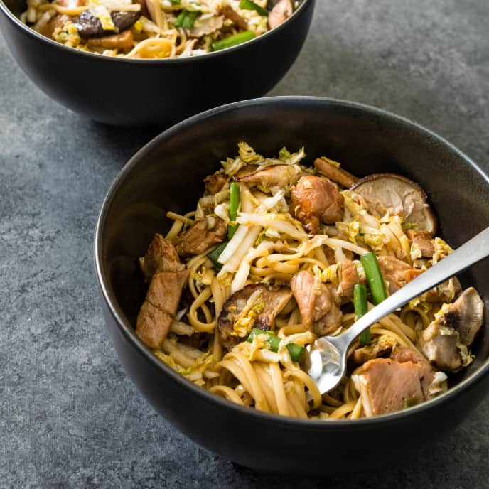 Skillet Pork Lo Mein for Two