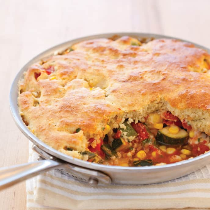 Skillet Summer Vegetable Tamale Pie for Two