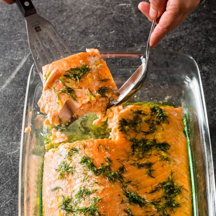 Slow-Roasted Salmon with Dill and Garlic