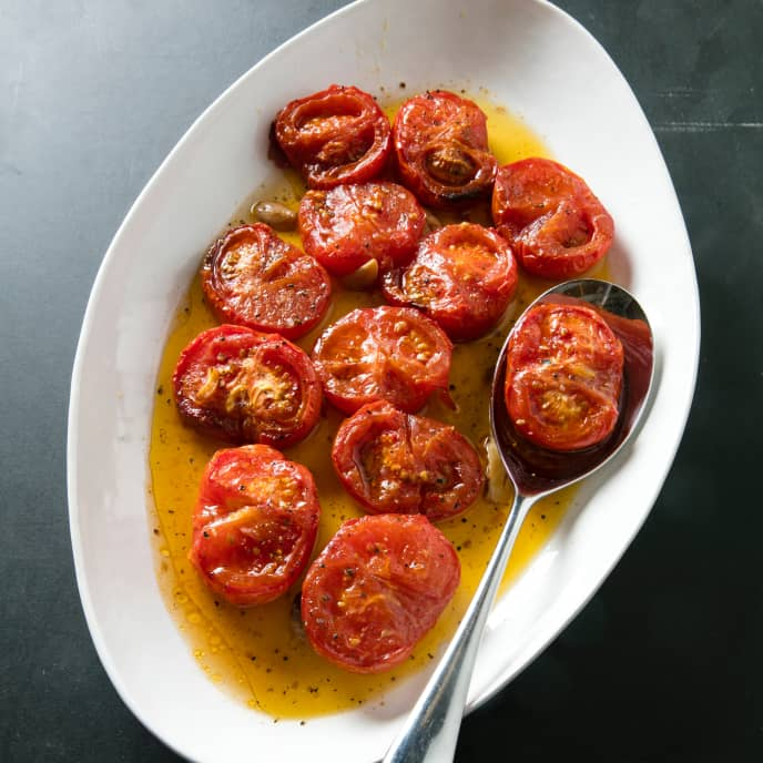 Slow-Cooker Slow-Cooked Tomatoes With Olive Oil