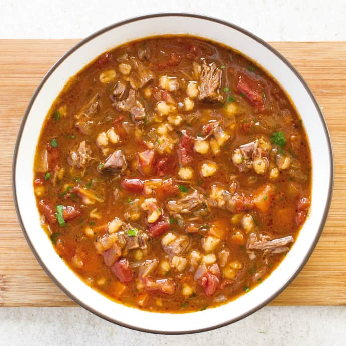 Slow Cooker Beef And Barley Soup America S Test Kitchen