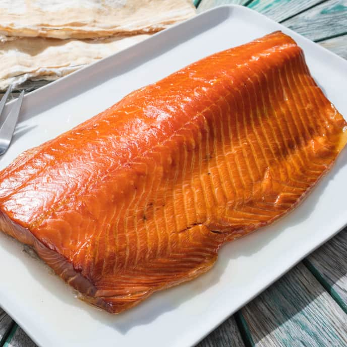 Hot-Smoked Whole Side of Salmon