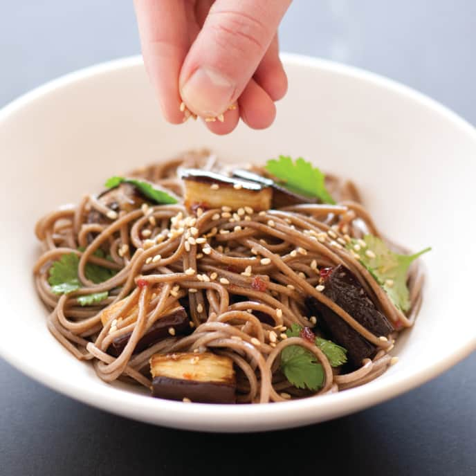 Soba Noodles With Roasted Eggplant and Sesame for Two