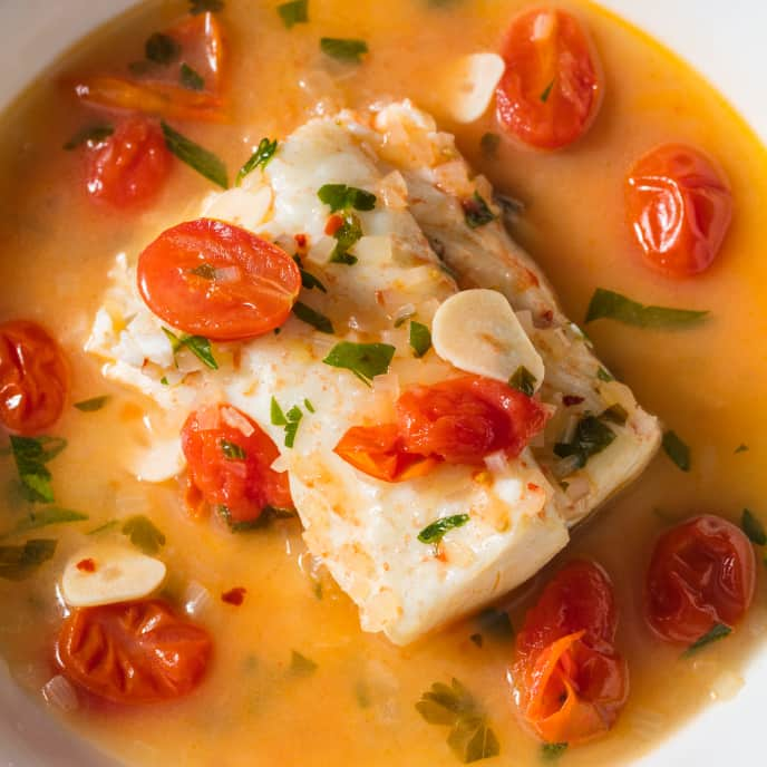 Pesce All'Acqua Pazza (Southern Italian Poached Fish) for Two
