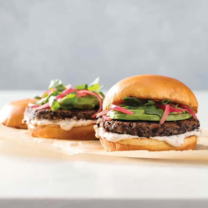 Southwestern Black Bean Burgers with Chipotle Sauce