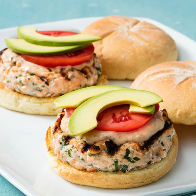 Grilled Southwestern Salmon Burgers