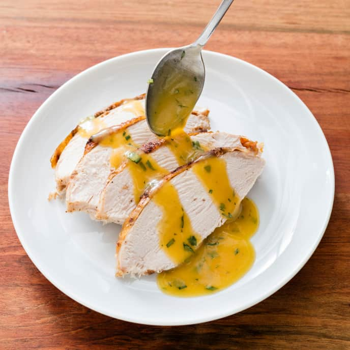 Spice-Rubbed Turkey Breast with Sour Orange Sauce