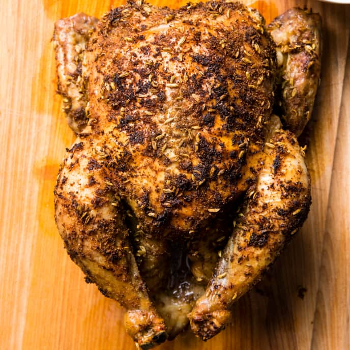 Spice-Roasted Chicken with Fennel, Coriander, and Lemon