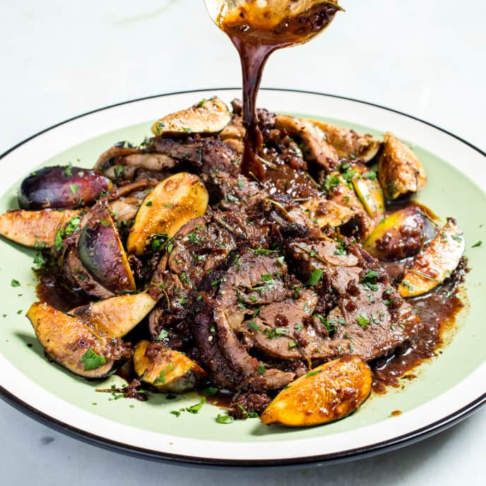 Spiced Lamb Pot Roast with Figs